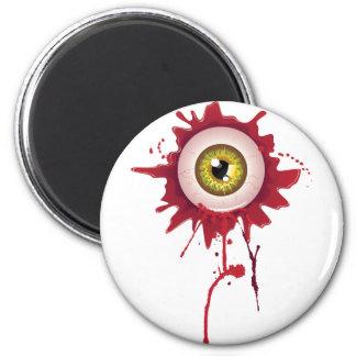 Halloween Bloody Eyeball 2 Inch Round Magnet