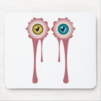 Halloween Bloody Eyeball 2 Mouse Pad