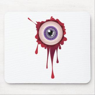 Halloween Bloody Eyeball Mouse Pad