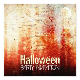 Halloween Bloody Moon Grunge Party Invitation