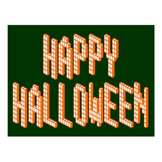 Halloween Blox Text Postcard