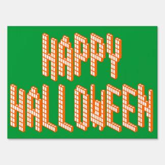 Halloween Blox Text Yard Sign
