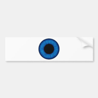 Halloween Blue Eye Close Up Bumper Sticker