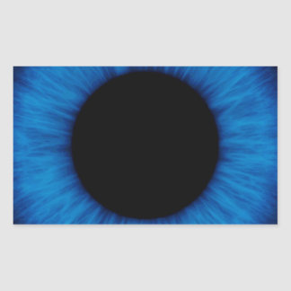 Halloween Blue Eye Close Up Rectangular Sticker