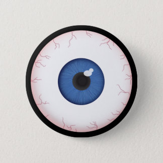 Halloween Blue Eyeball Button