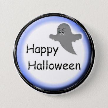 Halloween Themed Halloween Blue Ghost Button