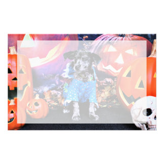 Halloween - Blue Heeler - B Elanna Customized Stationery