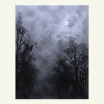 Halloween Blue Mist Sky with Ravens Flyer