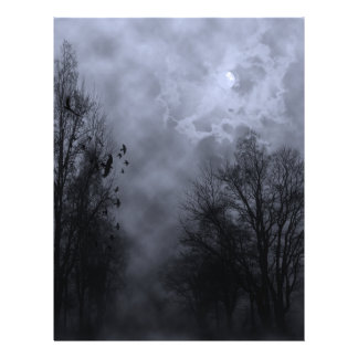 Halloween Blue Mist Sky with Ravens Flyer