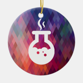 Halloween Boilers Minimal Double-Sided Ceramic Round Christmas Ornament