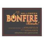 "Halloween Bonfire Bash on Fire Party Invitation 5"" X 7"" Invitation Card"