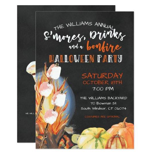 Halloween Bonfire Party Invitation Zazzle Com