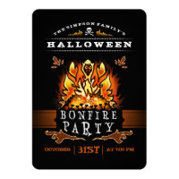 Halloween Bonfire Party Invitation