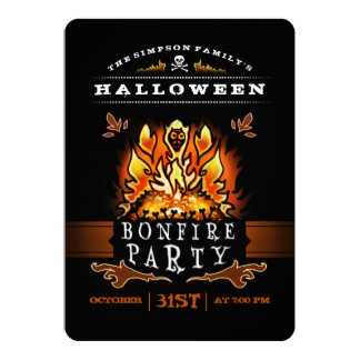Halloween Bonfire Party Invitation