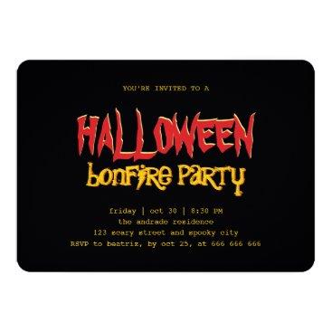 red_dress Halloween Bonfire Party Teen Outdoor Black Yellow Card