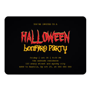 Bonfire Halloween Invitations Zazzle