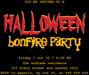 Teen Halloween Invitations