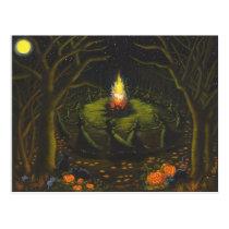 Halloween,bonfire,witches,coven,magic,dance Postcard