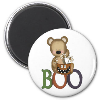 Halloween Boo Bear 2 Inch Round Magnet