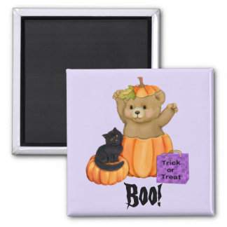 Halloween Boo Bear 2 Inch Square Magnet