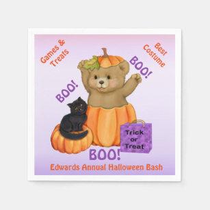 Halloween Boo Bear Paper Napkin & Boo Boo Bear Gifts on Zazzle