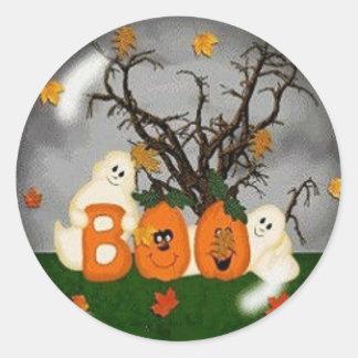 Halloween Boo Classic Round Sticker