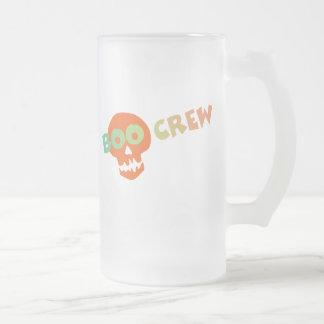 Halloween Boo Crew Frosted Glass Beer Mug