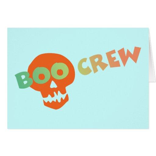 Halloween Boo Crew Greeting Card