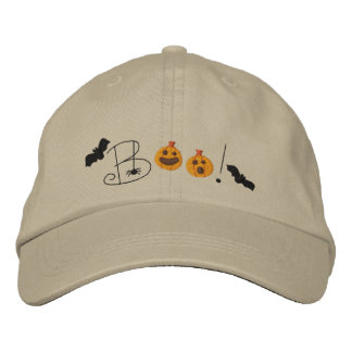 Halloween Boo Embroidered Baseball Hat