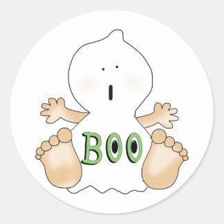 Halloween BOO Ghost Kids Fun Stickers