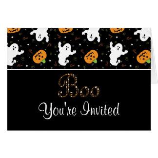 Halloween Boo Invitation Card