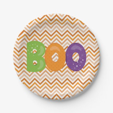 Halloween Themed Halloween Boo Paper Plate