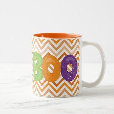 Halloween Themed Halloween Boo Two-Tone Coffee Mug