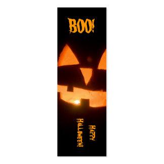 halloween bookmark business card template