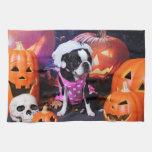 Halloween - Boston Terrier - Georgia Kitchen Towels