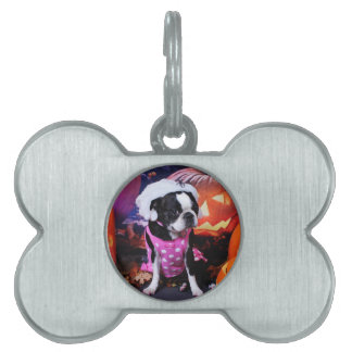 Halloween - Boston Terrier - Georgia Placas Mascota