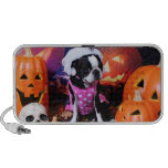Halloween - Boston Terrier - Georgia Portable Speakers