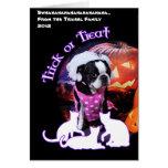 Halloween - Boston Terrier - Georgia Tarjeta