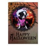 Halloween - Boston Terrier - Georgia Tarjeta Pequeña
