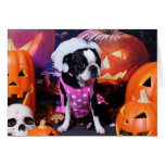 Halloween - Boston Terrier - Georgia Tarjetón