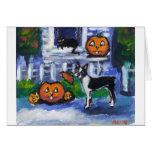 Halloween Boston Terrier mischief Cards