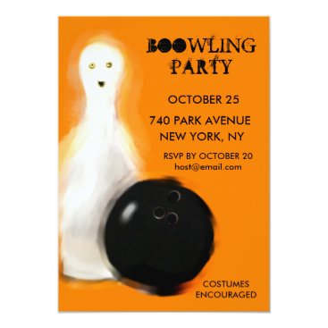 partygames Halloween Bowling Party Invitations
