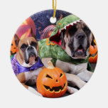 Halloween - boxeador - Roxy y mastín - Lach Ornamento Para Arbol De Navidad