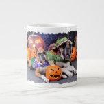 Halloween - boxeador - Roxy y - mastín - Lach Taza Extra Grande
