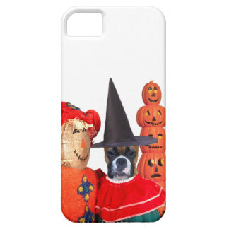 Halloween Boxer dog iPhone 5 Barely There Case