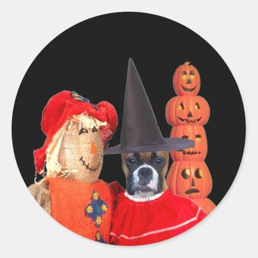 Halloween boxer sticker