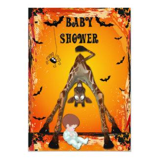 Halloween Boy Baby Shower Funny Giraffe Card