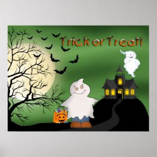 Halloween Boy Ghost Poster/Print Poster