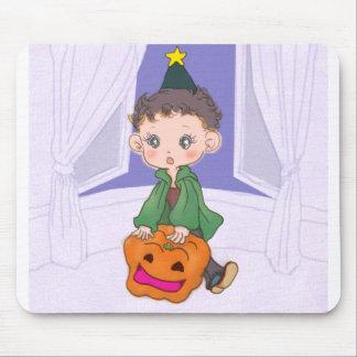 Halloween boy mouse pad