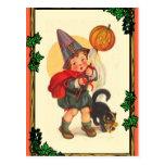 Halloween boy postcard